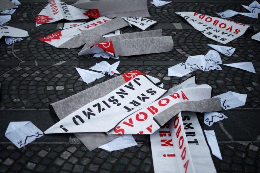 grožnje protesti levi