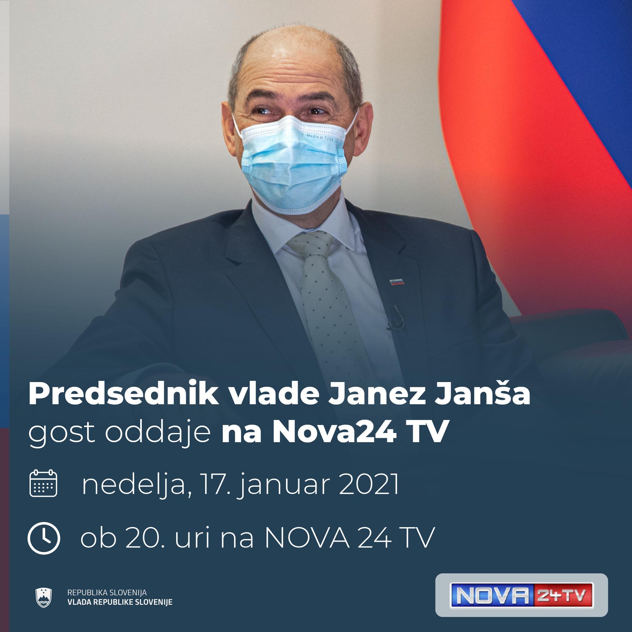 Predsednik vlade janez janša gost oddaje na Nova24 TV 17. januar. 2021 ob 20. uri