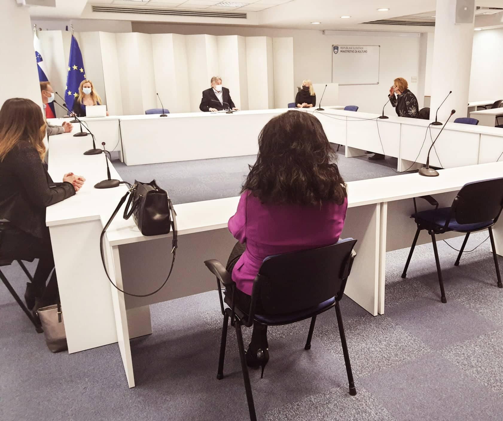 Minister dr. Simoniti s sogovorniki o projektu Evropska prestolnica kulture 2025 (Gost: županom Mestne občine Nova Gorica dr. Klemn Miklavič