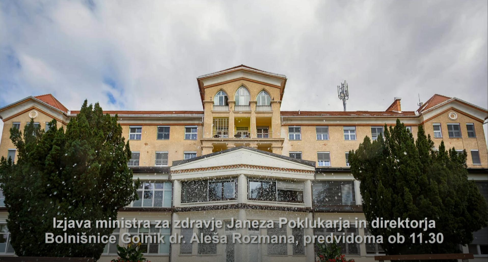 6. marec ob 11.30 Izjava ministra za zdravje Janeza Poklukarja in direktorja Bolnišnice Golnik dr. Aleša Rozmana