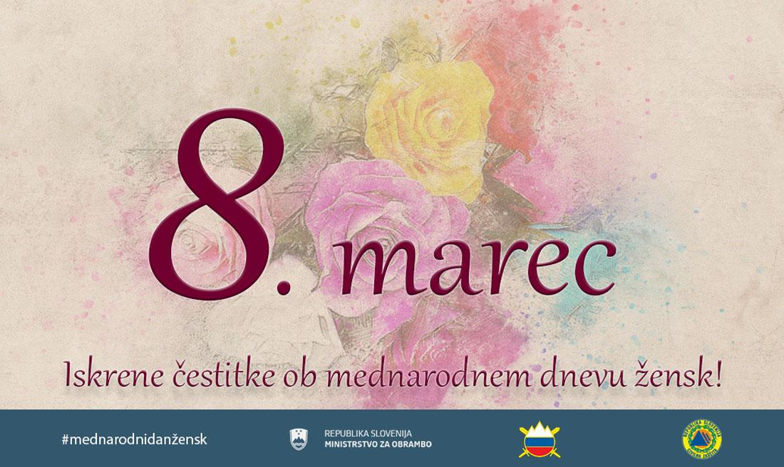 Voščilo ministra Mateja Tonina ob mednarodnem dnevu žensk Avtor MORS
