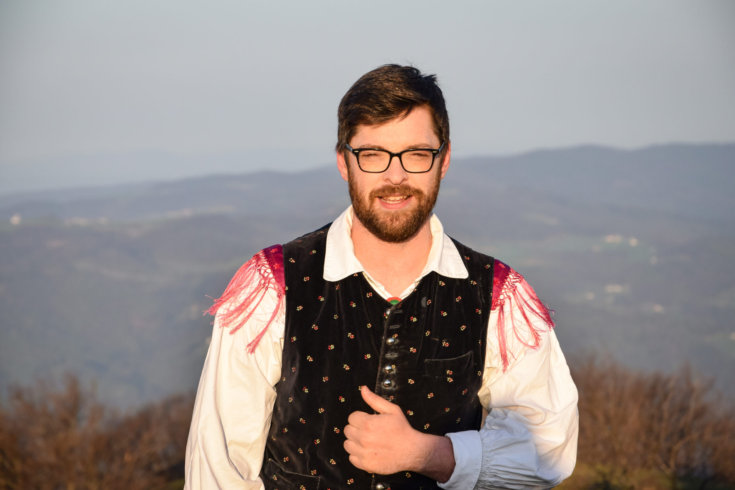 Ansambel Nemir na snemanju videospota Slovenska pesem